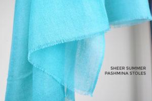pashmina stoles for summer