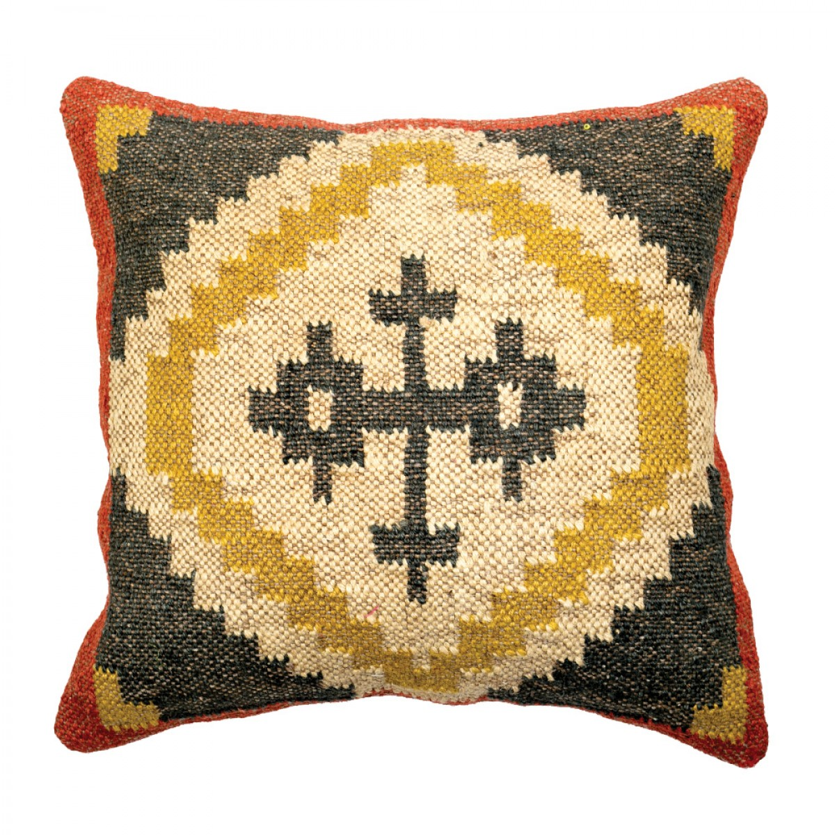 Jute and Wool Kilim Cushion Cover