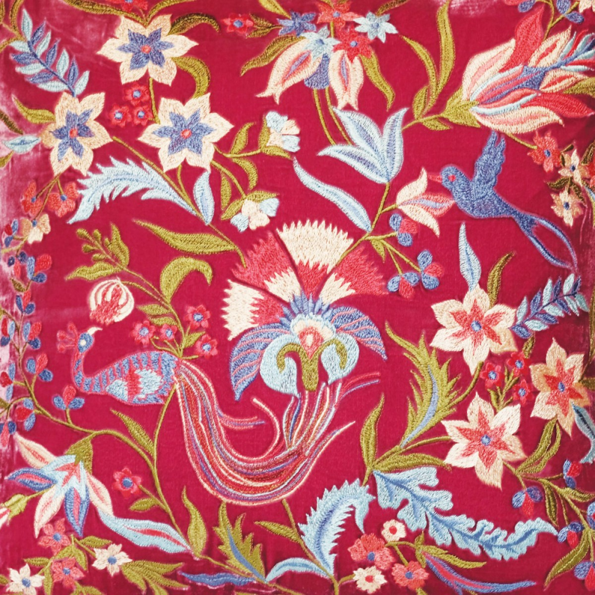 Designer Embroidered Cushion Cover - Maroon