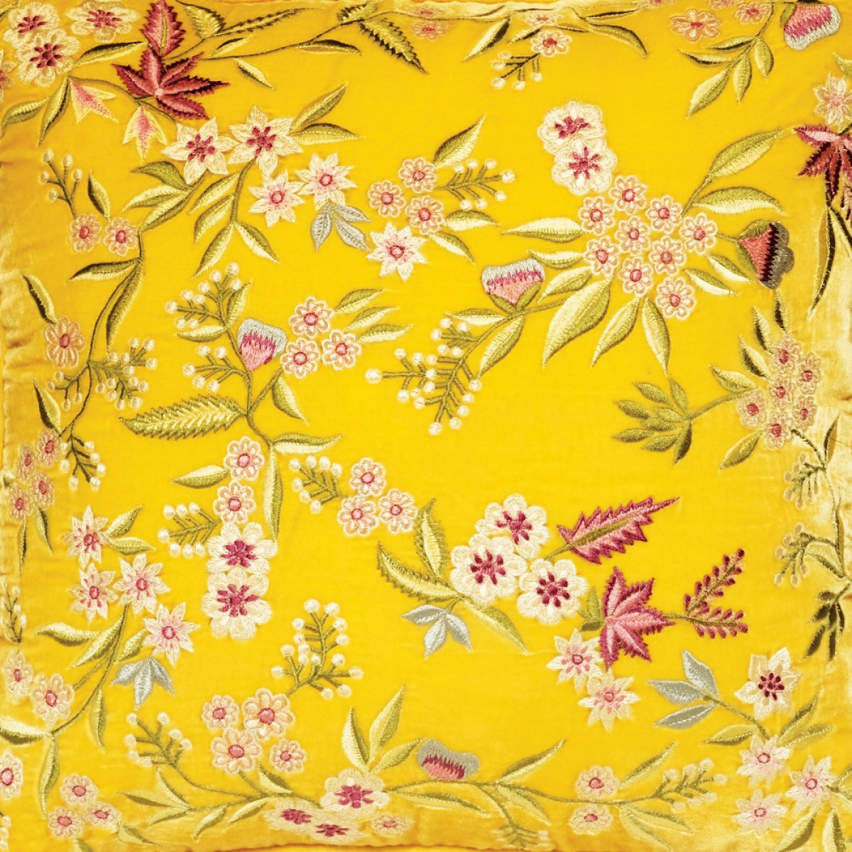 Designer Embroidered Cushion Cover - Tuscan Sun