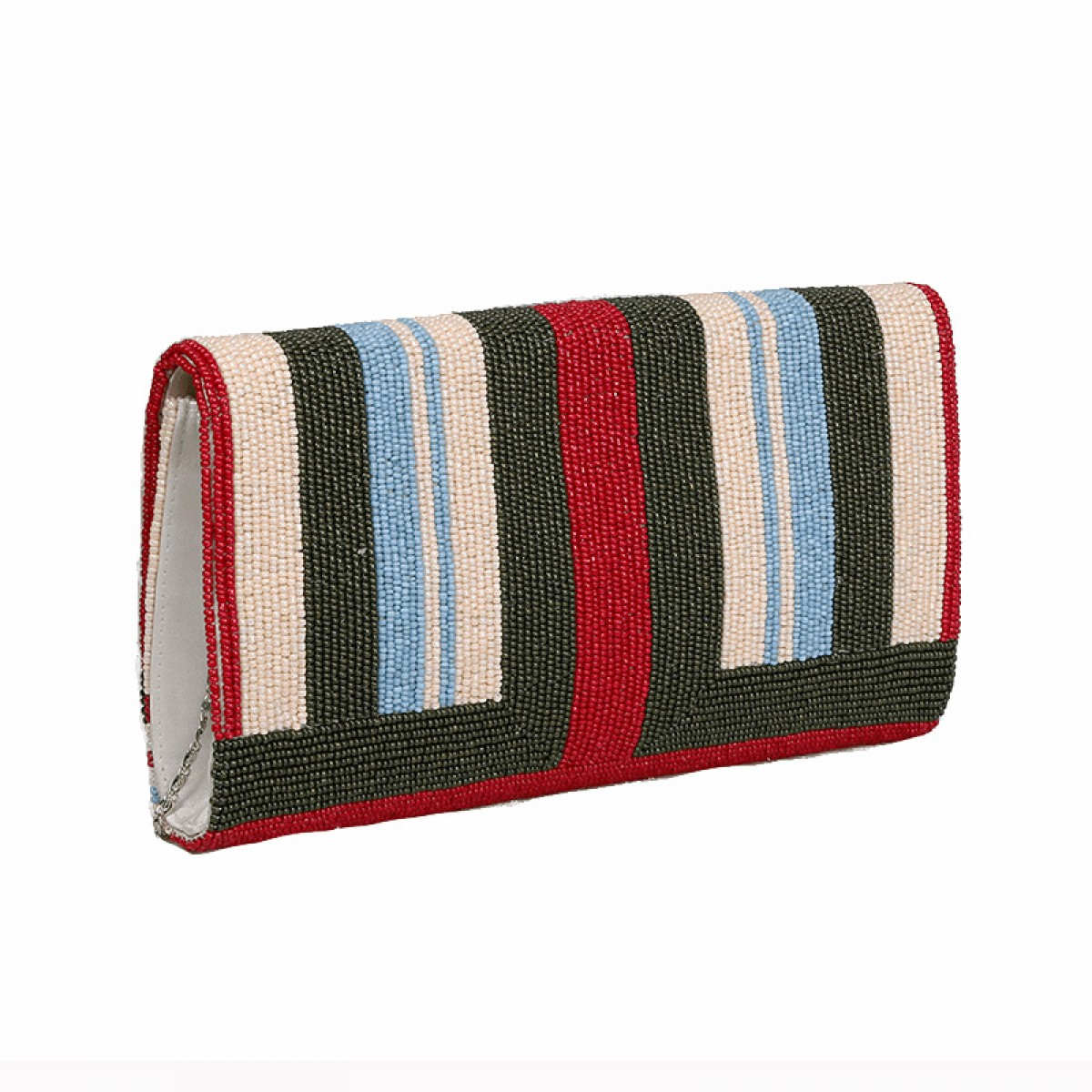 Beaded Evening Clutch Bag - Multi Color
