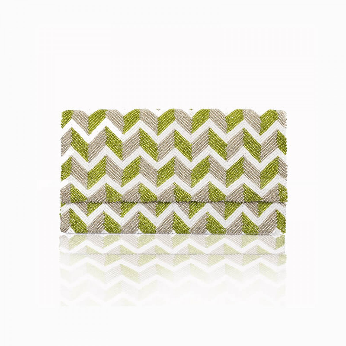 Beaded Wave Evening Clutch Bag - Green