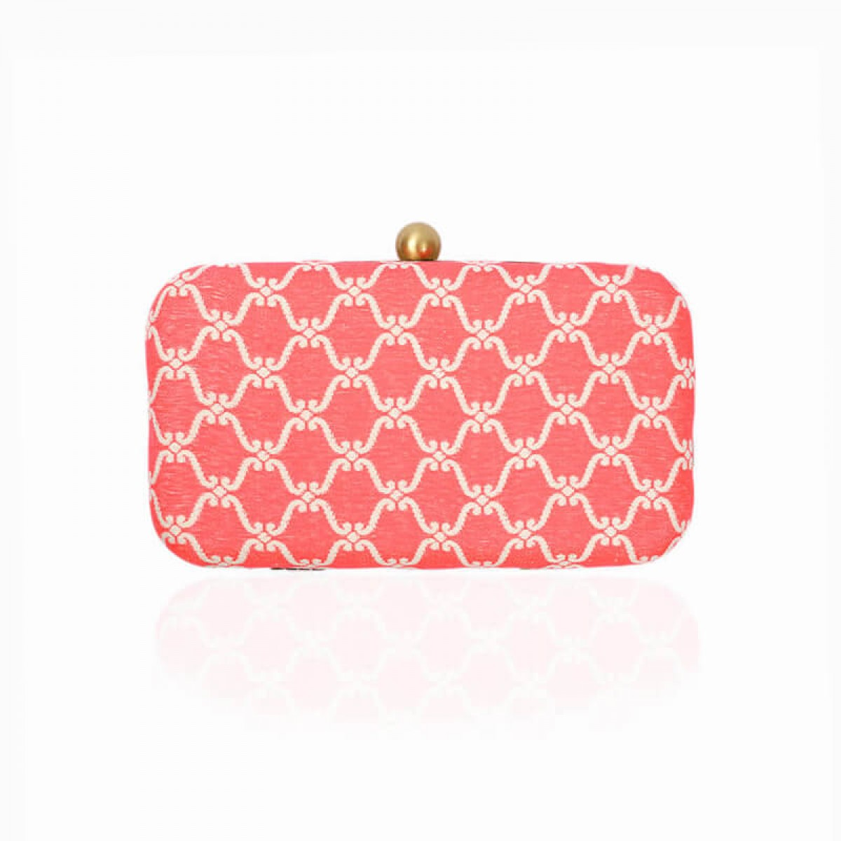 Evening Pattern Clutch Bag - Pink