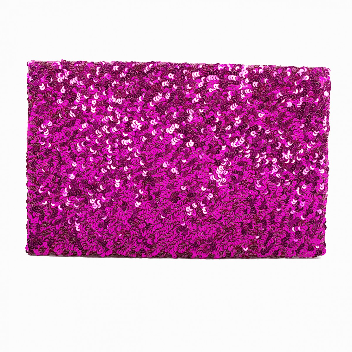 Sequin Clutch Bag - Fuchsia