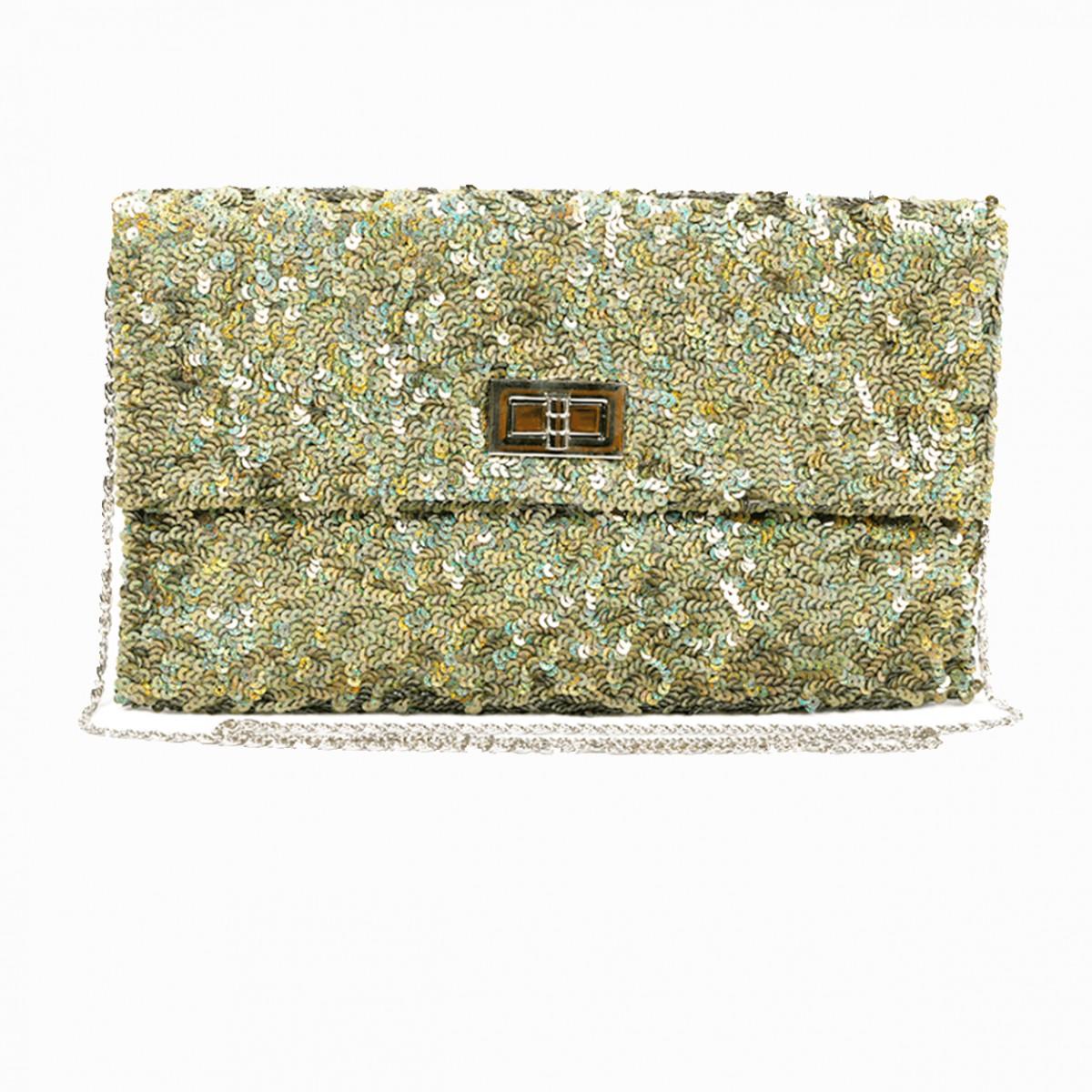 Olive sequins crossbody handbag