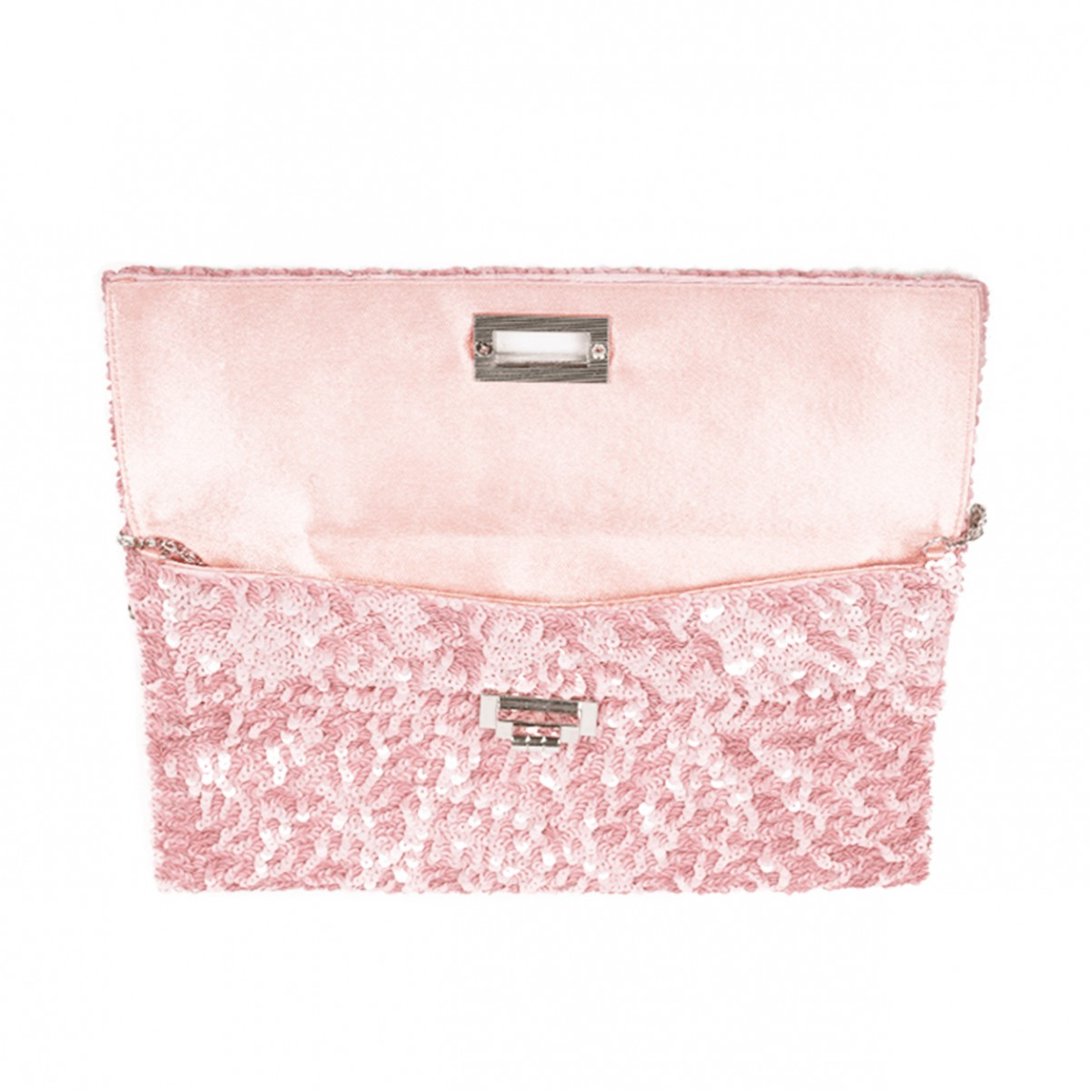 Sequin Clutch Bag - Pink