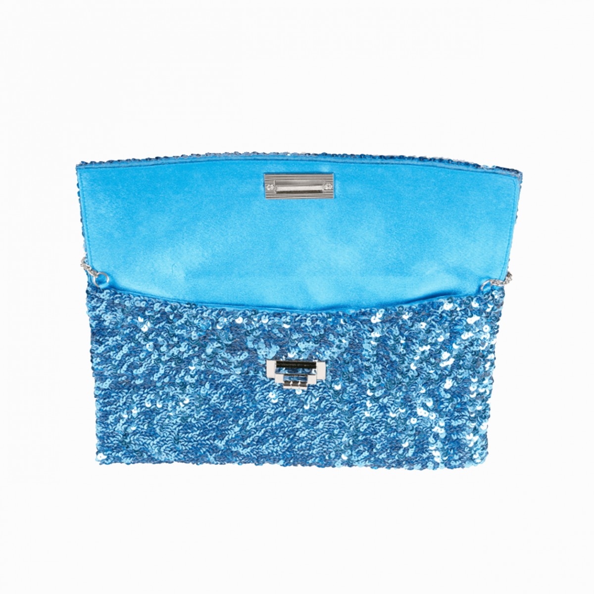 Sequin Clutch Bag - Sky Blue