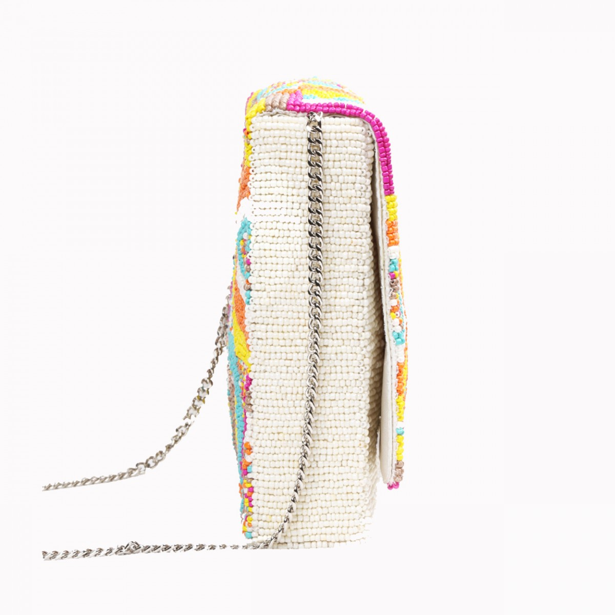 Beaded Evening  Box Clutch Bag - Multi Color