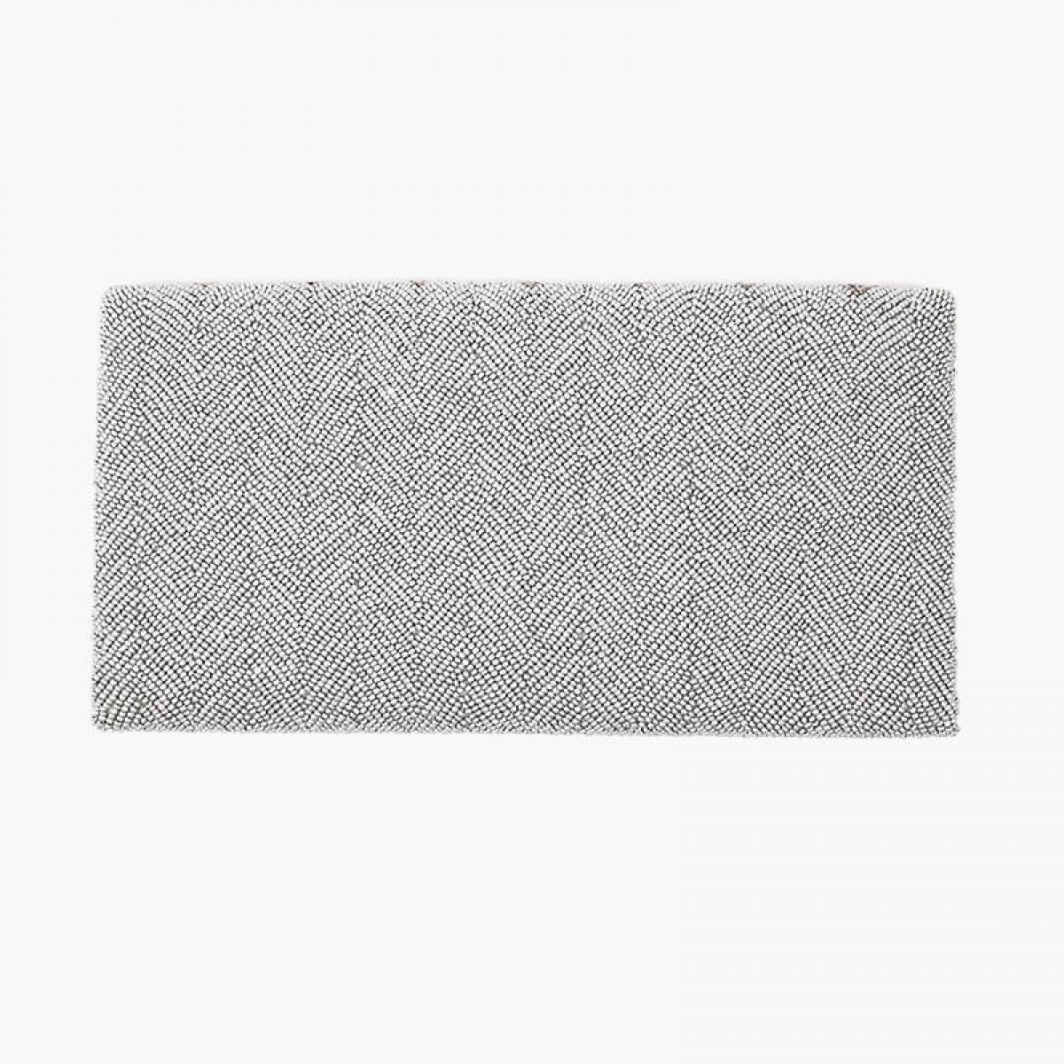 Beaded Evening Clutch Bag - Grey