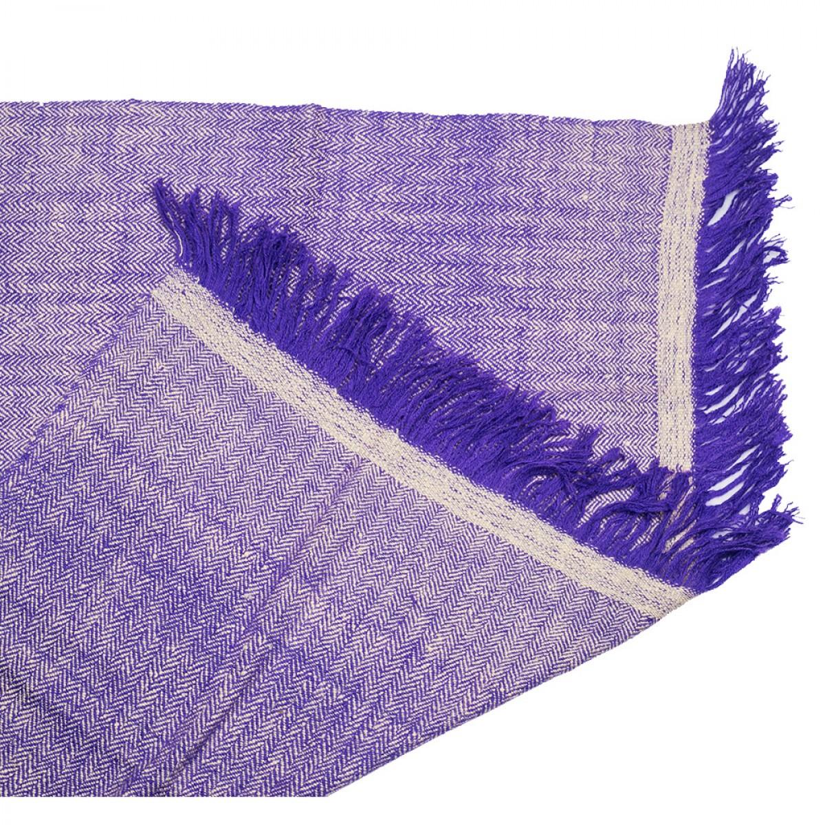 Blue Herringbone Weave Baby Cashmere Blanket