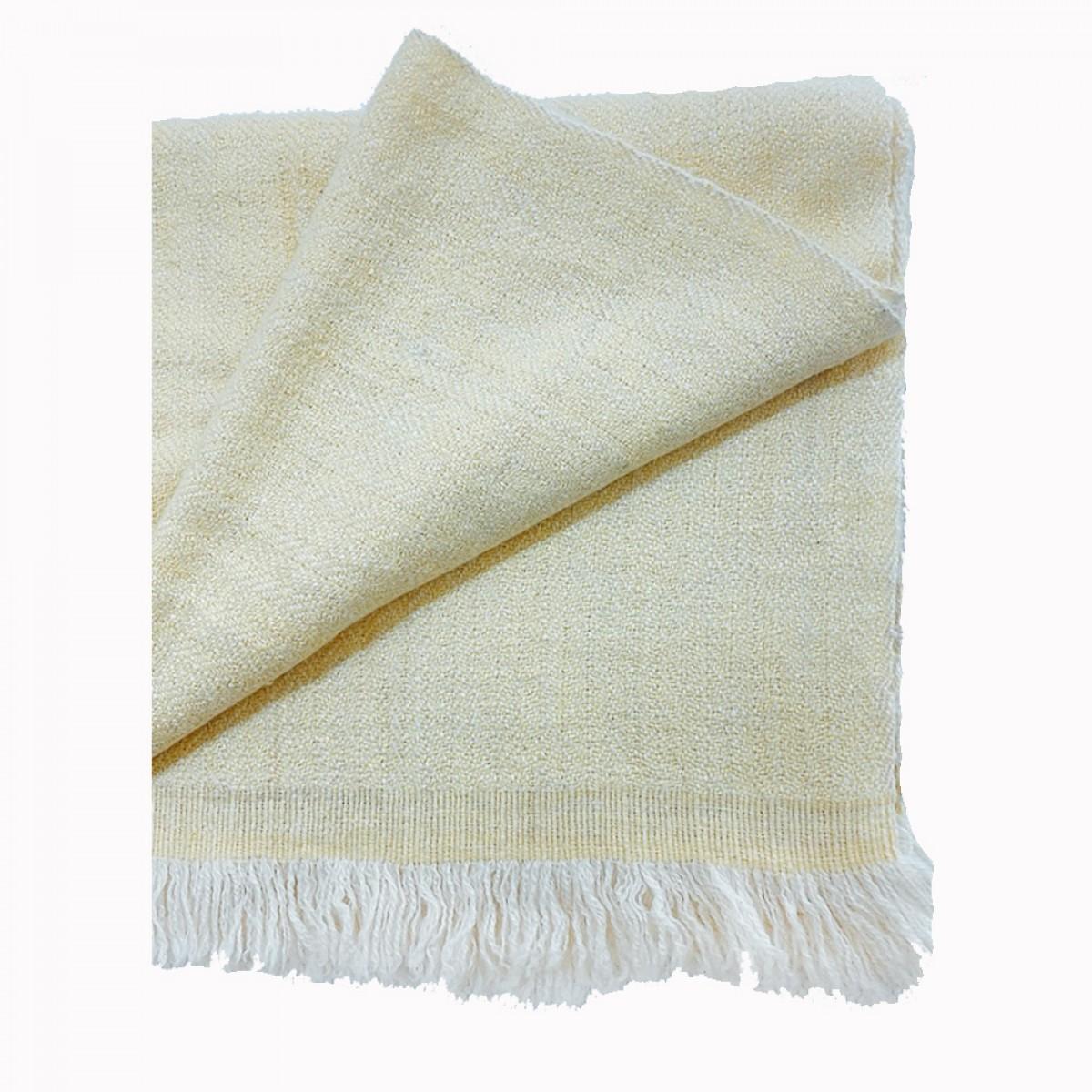 Baby Yellow Herringbone Weave Baby Cashmere Blanket
