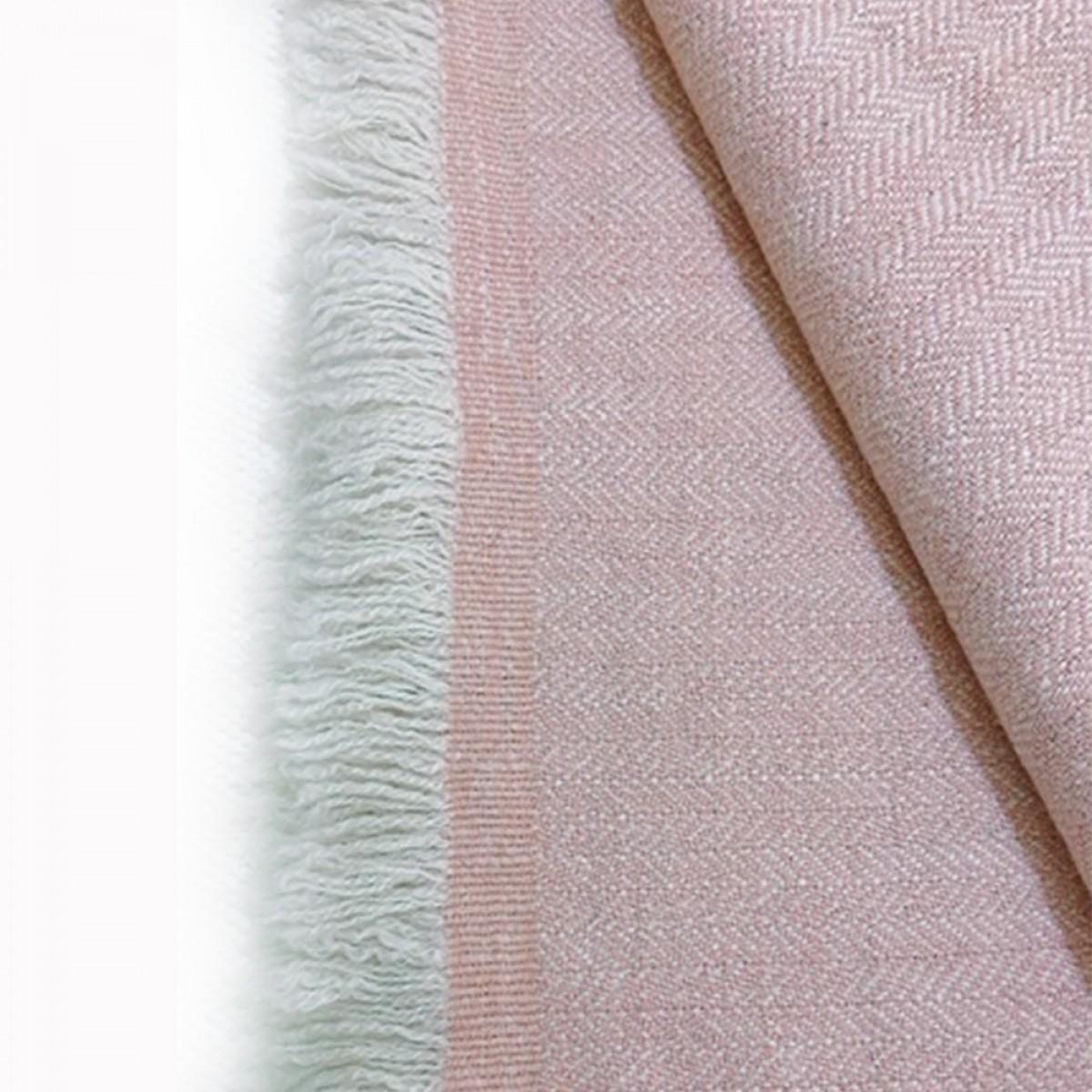 Peach Herringbone Weave Baby Cashmere Blanket