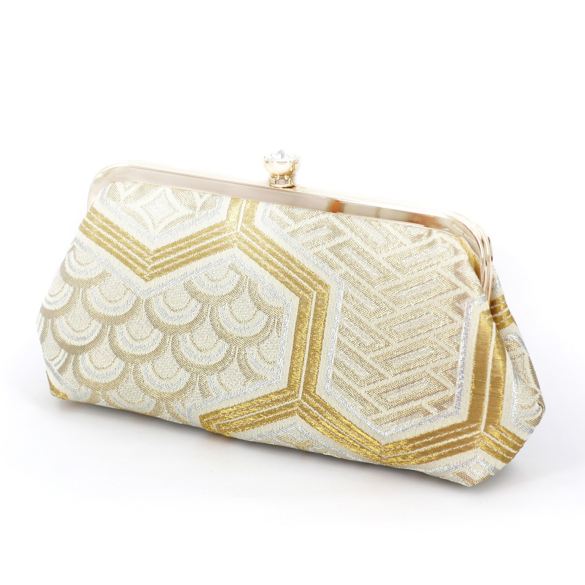 Swaroski Crystal Kimono Clutch with Bishamon Patterns