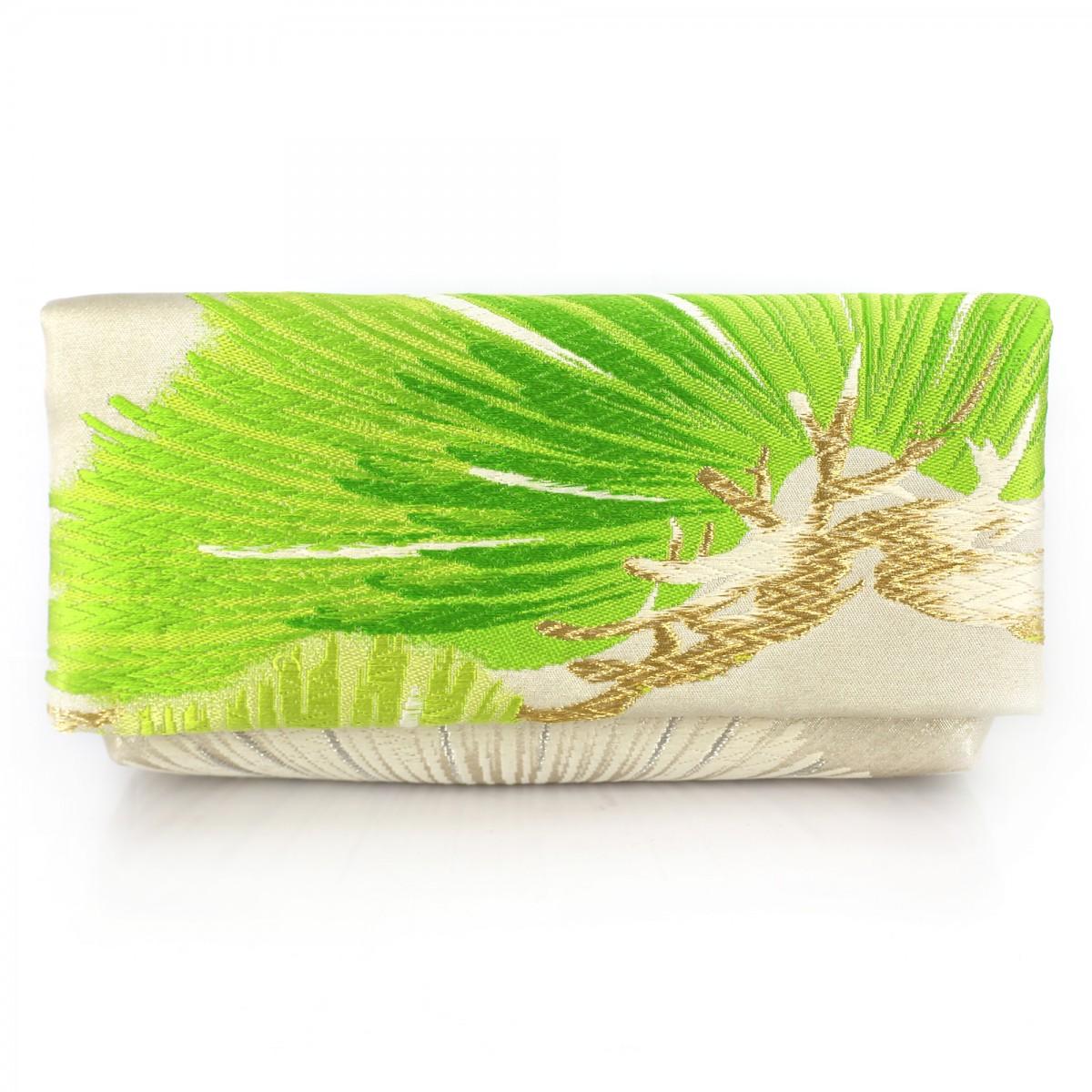Kimono Envelope Clutch with Light Green Pine Tree