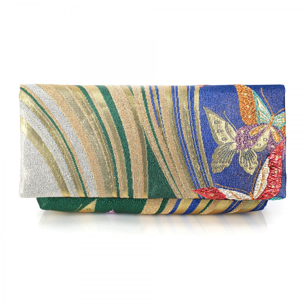 Kimono Envelope Clutch with Butterflies Dancing