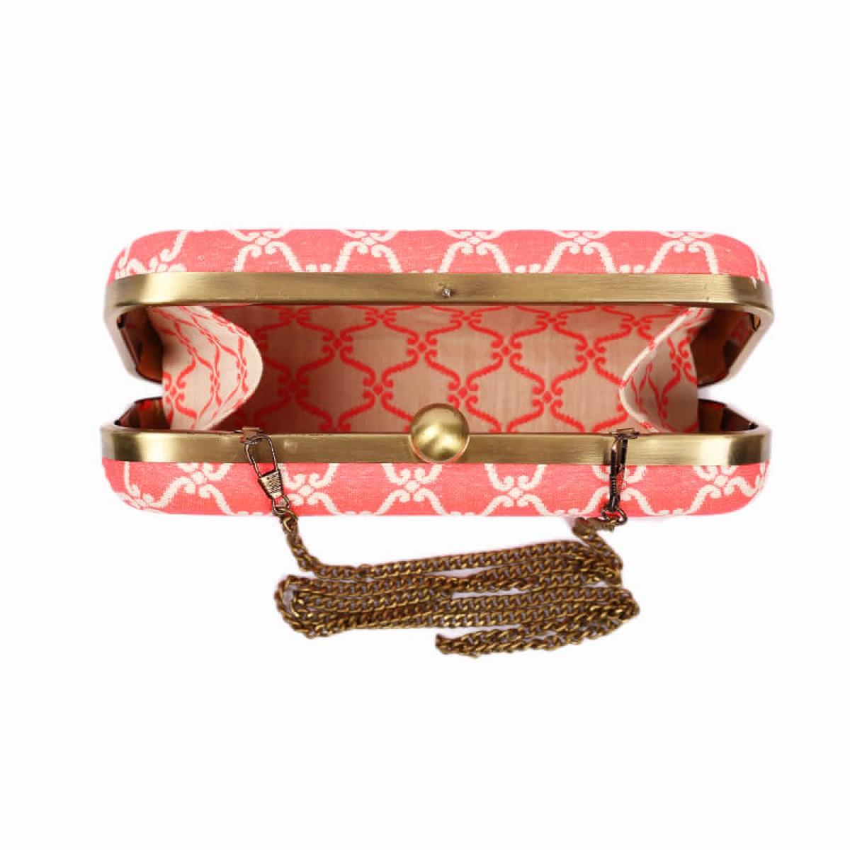 Evening Pattern Clutch Bag - Pink