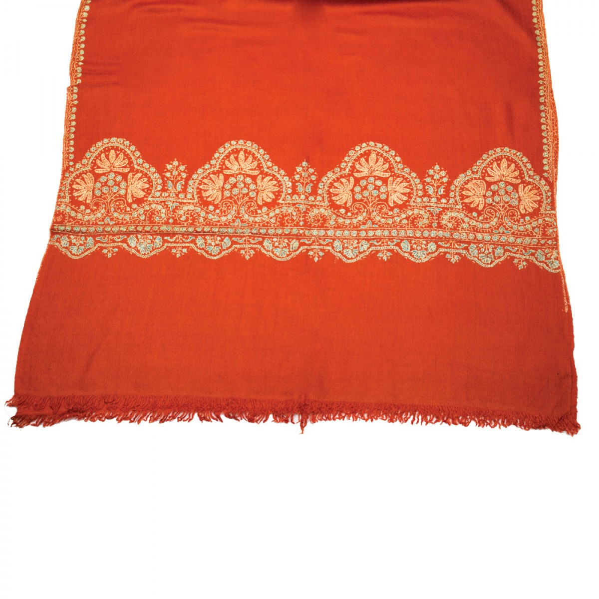 Embroidered Pashmina stole - Red