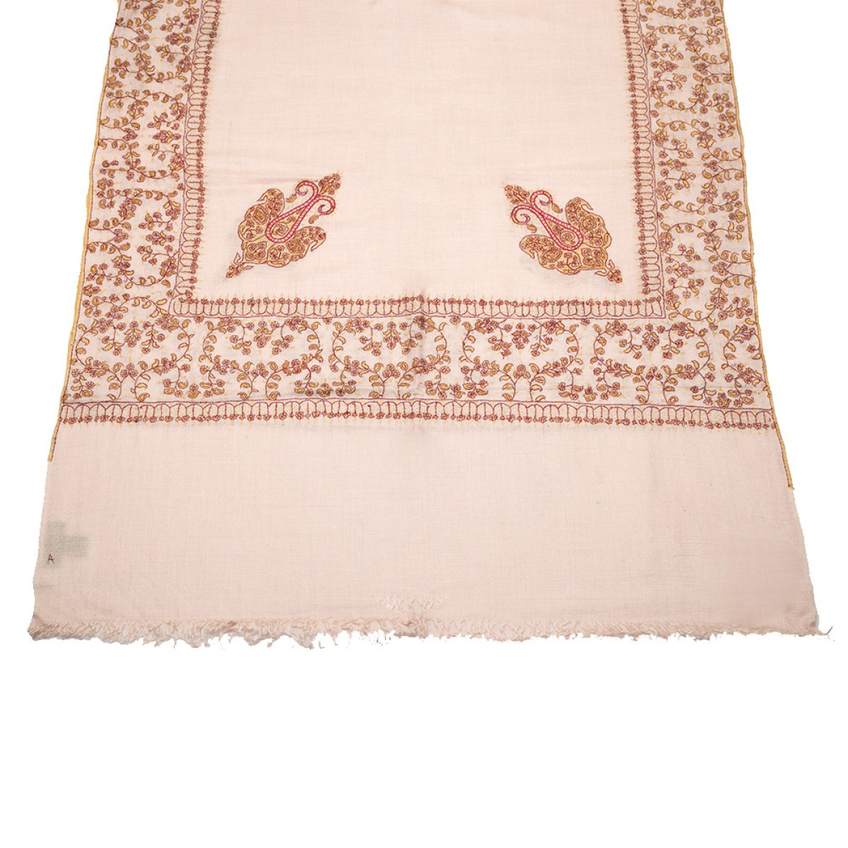 Embroidered Pashmina Stole - Baby Pink