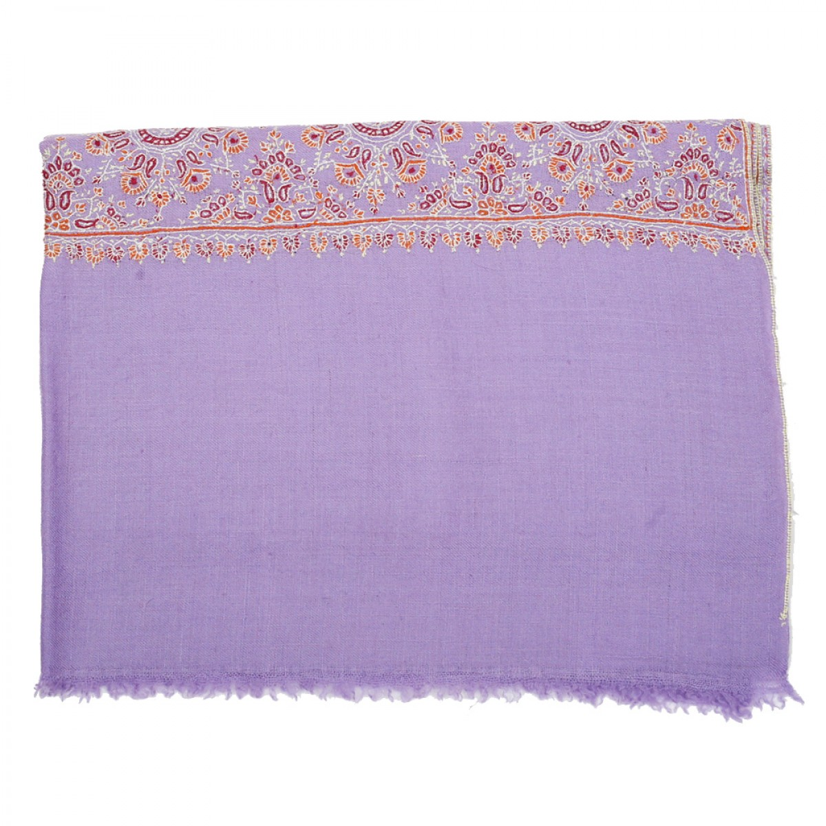 Embroidered Pashmina Stole - Purple