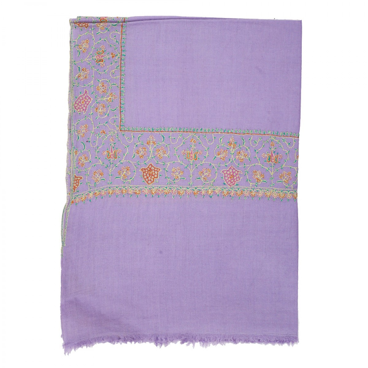 Embroidered Pashmina Stole - Light Purple