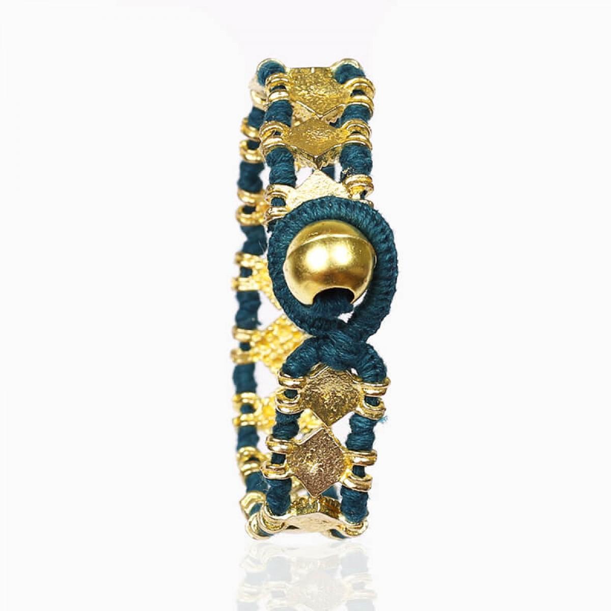 Blue hand woven fashion bracelet