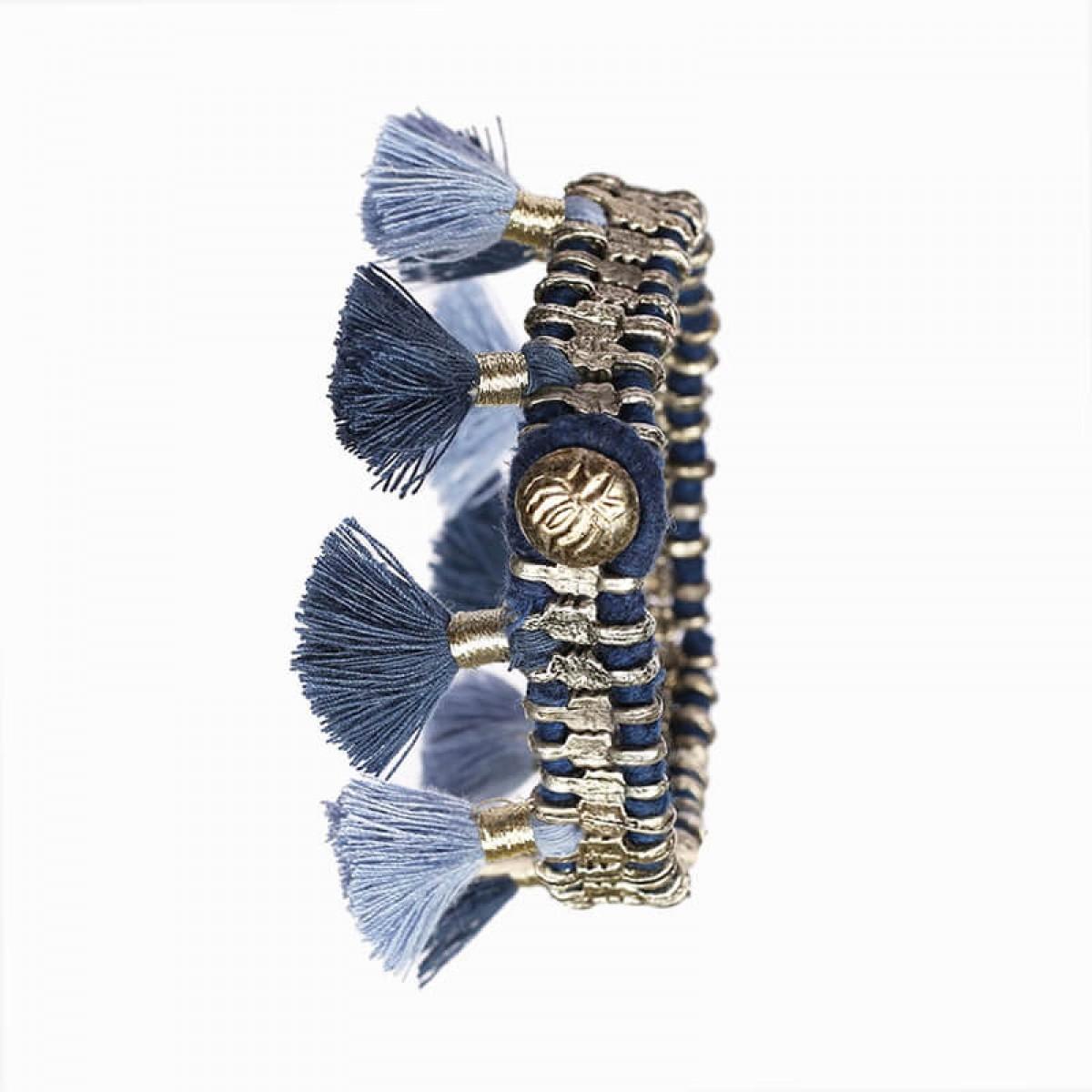 Bohemian Fashion Single Tassel Bracelet - Blue
