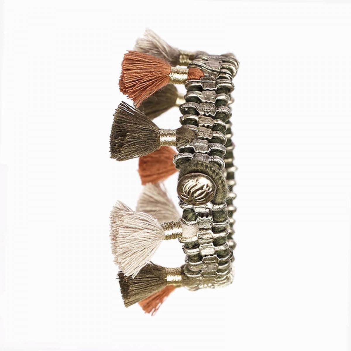 Bohemian Fashion Single Tassel Bracelet - Brown