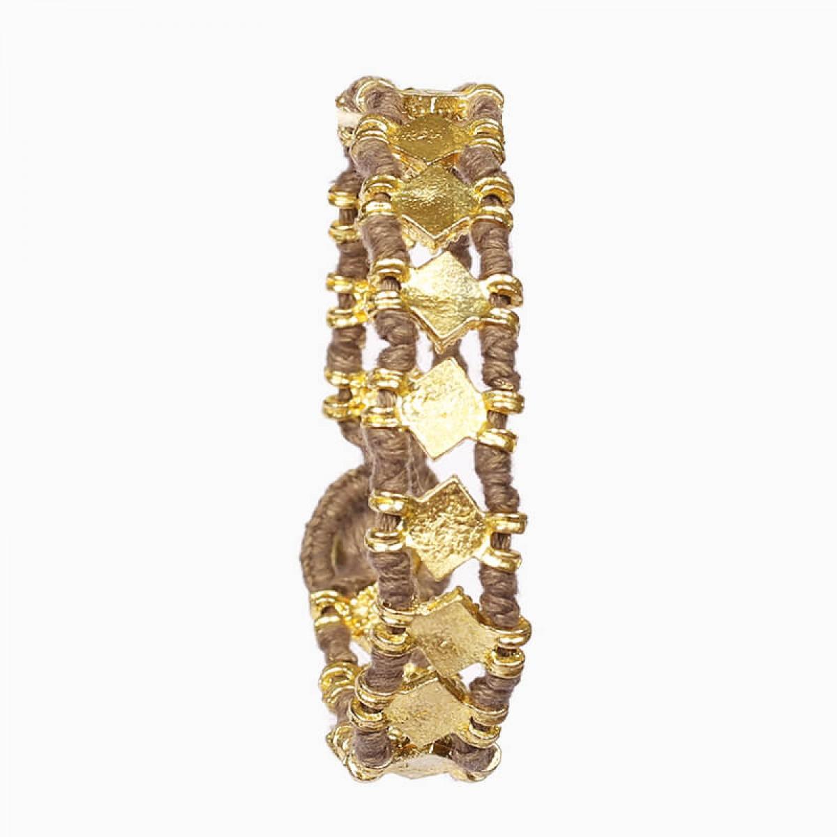 Bohemian Fashion Bracelet - Taupe