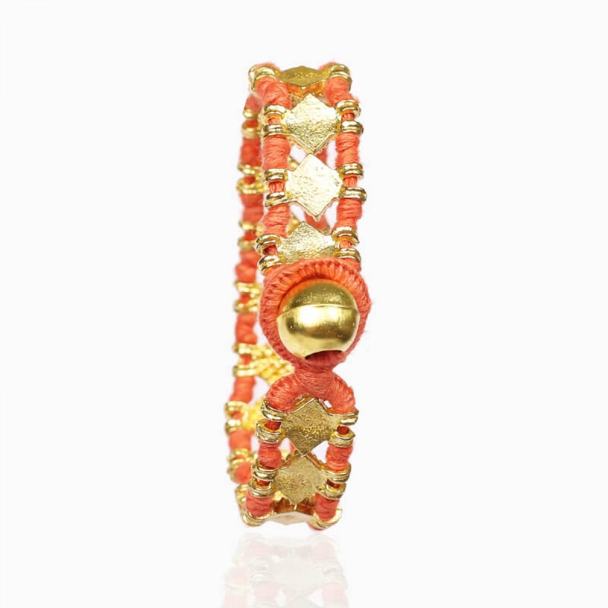 Coral hand woven fashion bracelet