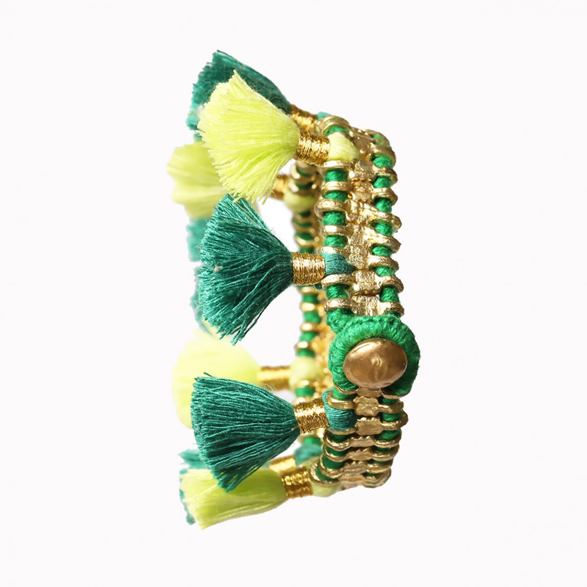 Bohemian Fashion Single Tassel Bracelet - Green