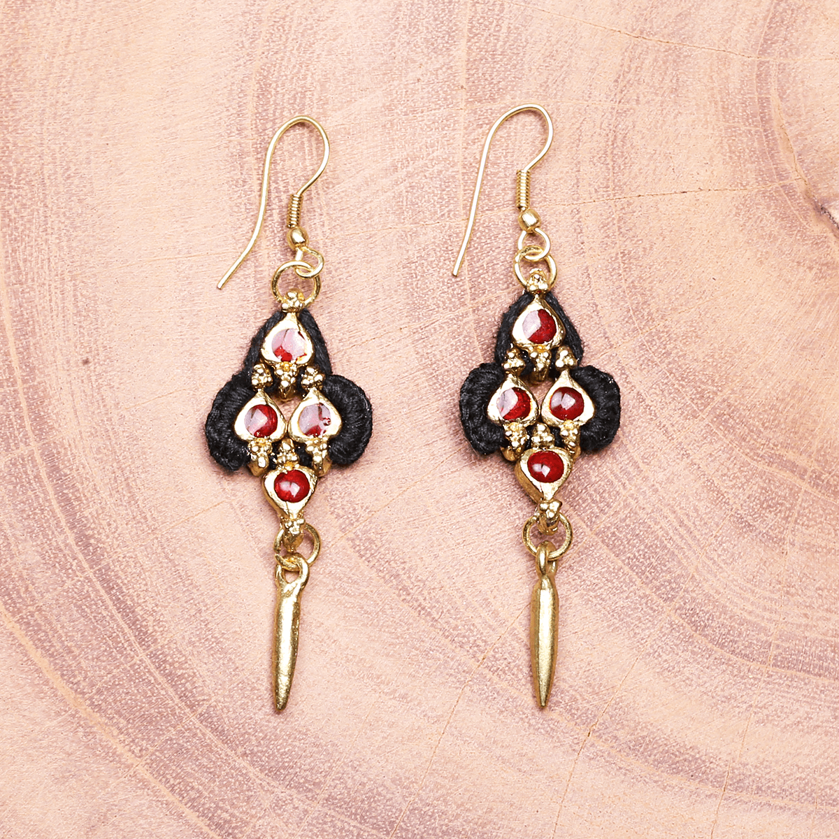 Bohemian Fashion Metal Earrings - Black