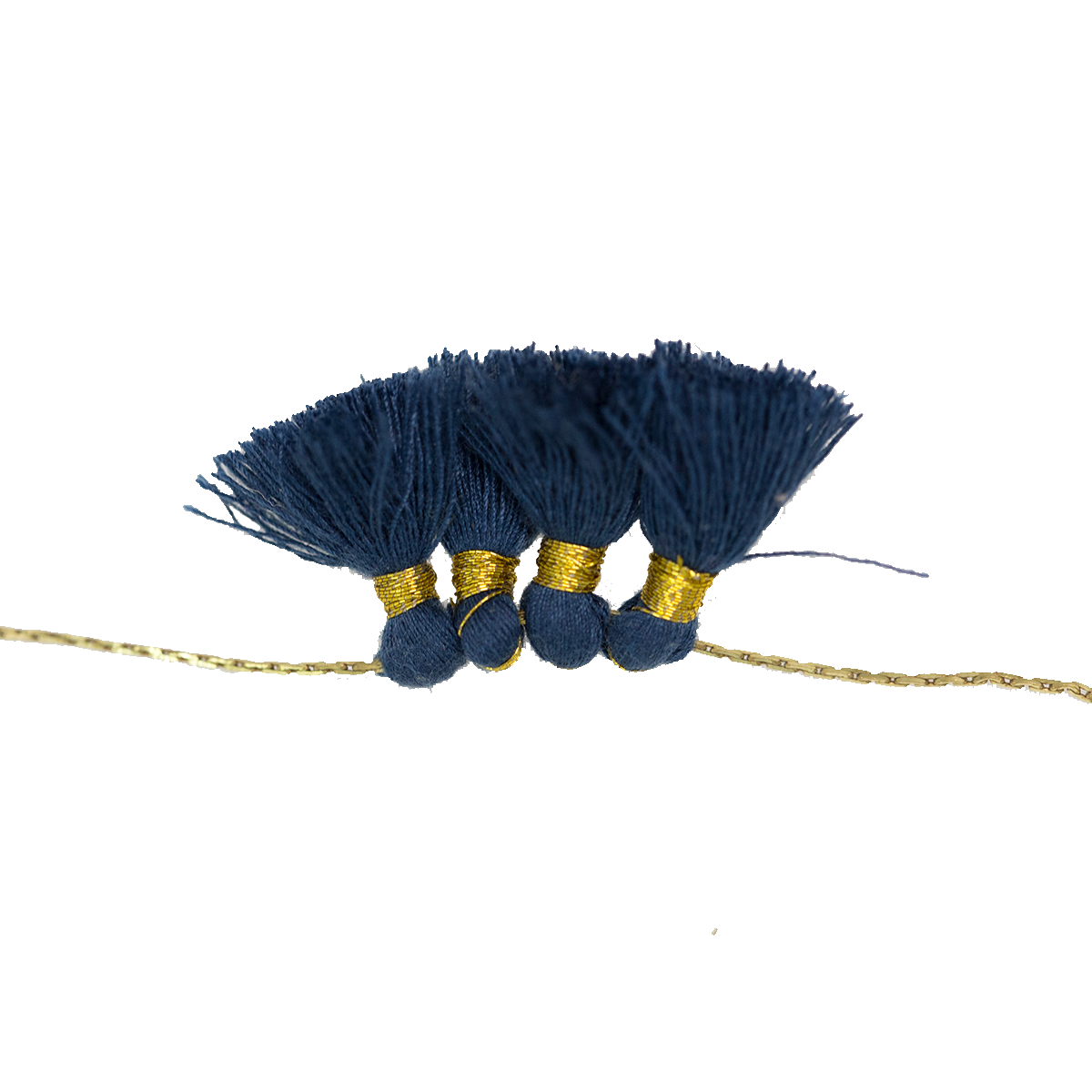 Wheel pendant necklace blue