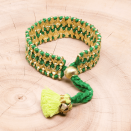 Bohemian Fashion Tassel Bracelet - Green