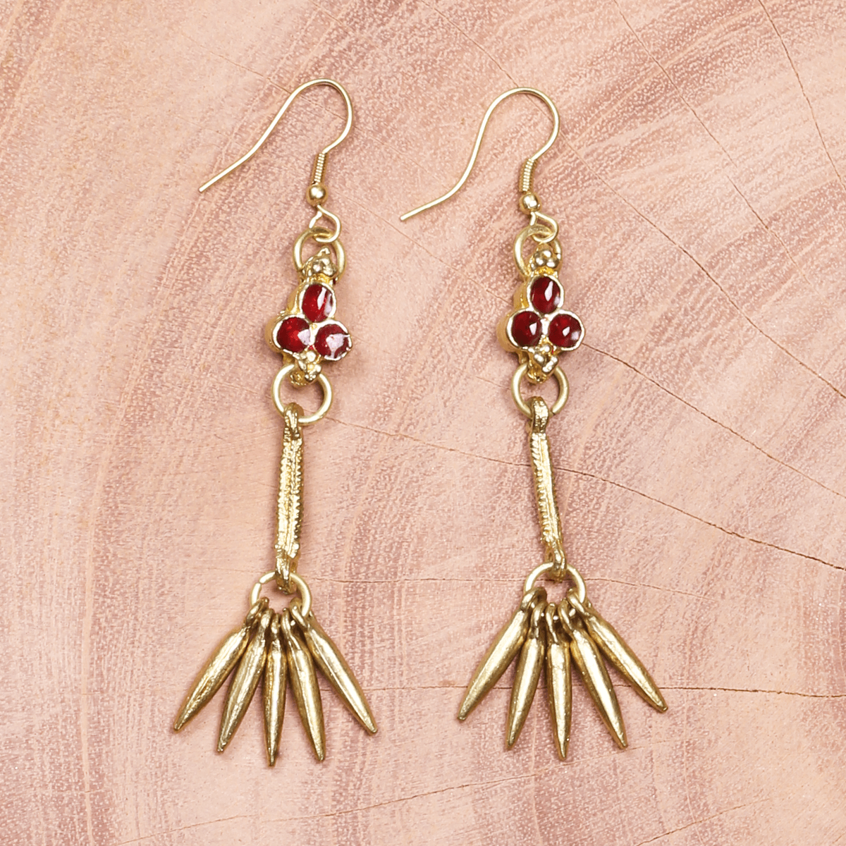 Bohemian Fashion Metal Earrings - Red