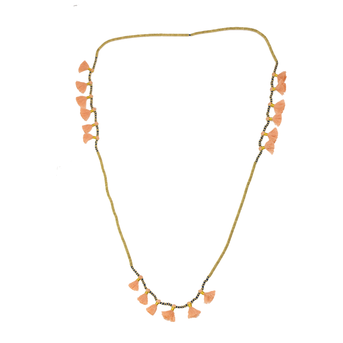 Tassels long necklace gold