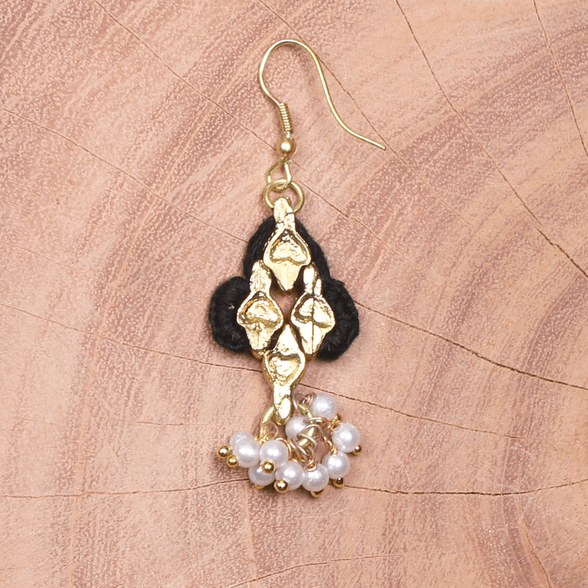 Bohemian Fashion Pearl Chandelier Earrings