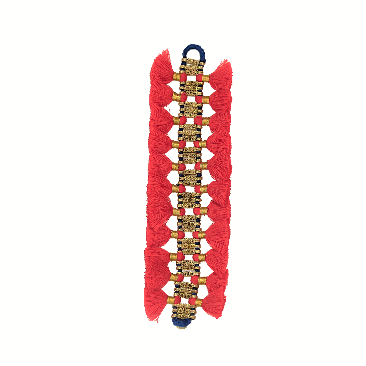 Bohemian Fashion Double Tassel Bracelet - Red