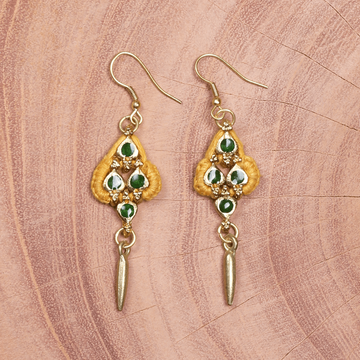 Bohemian Fashion Metal Earrings - Yellow