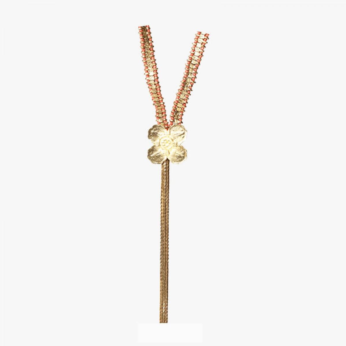 Bohemian Chandelier Coin Necklace - Orange