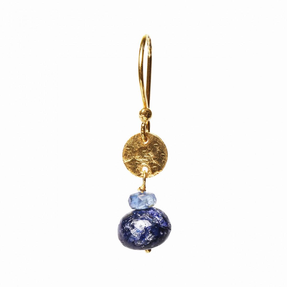 Gemstone Earrings - Kyanite & Dyed Blue Sapphire