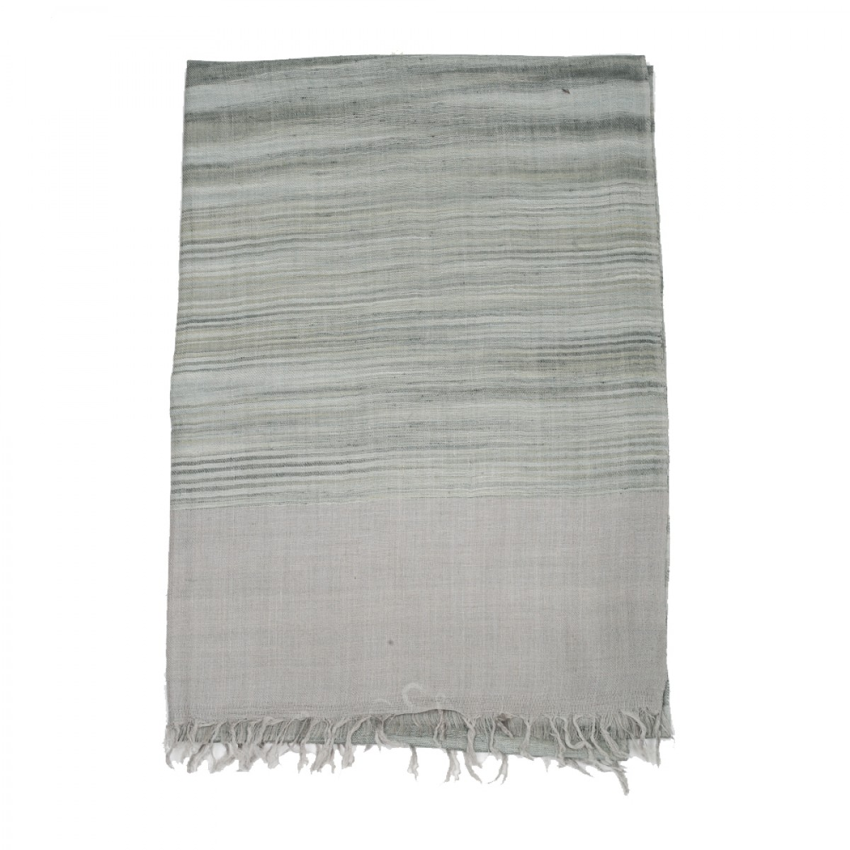 Ikat Cashmere Pashmina Stole - Light Grey
