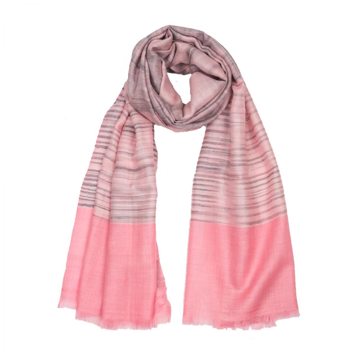 Ikat Cashmere Pashmina Stole - Pink