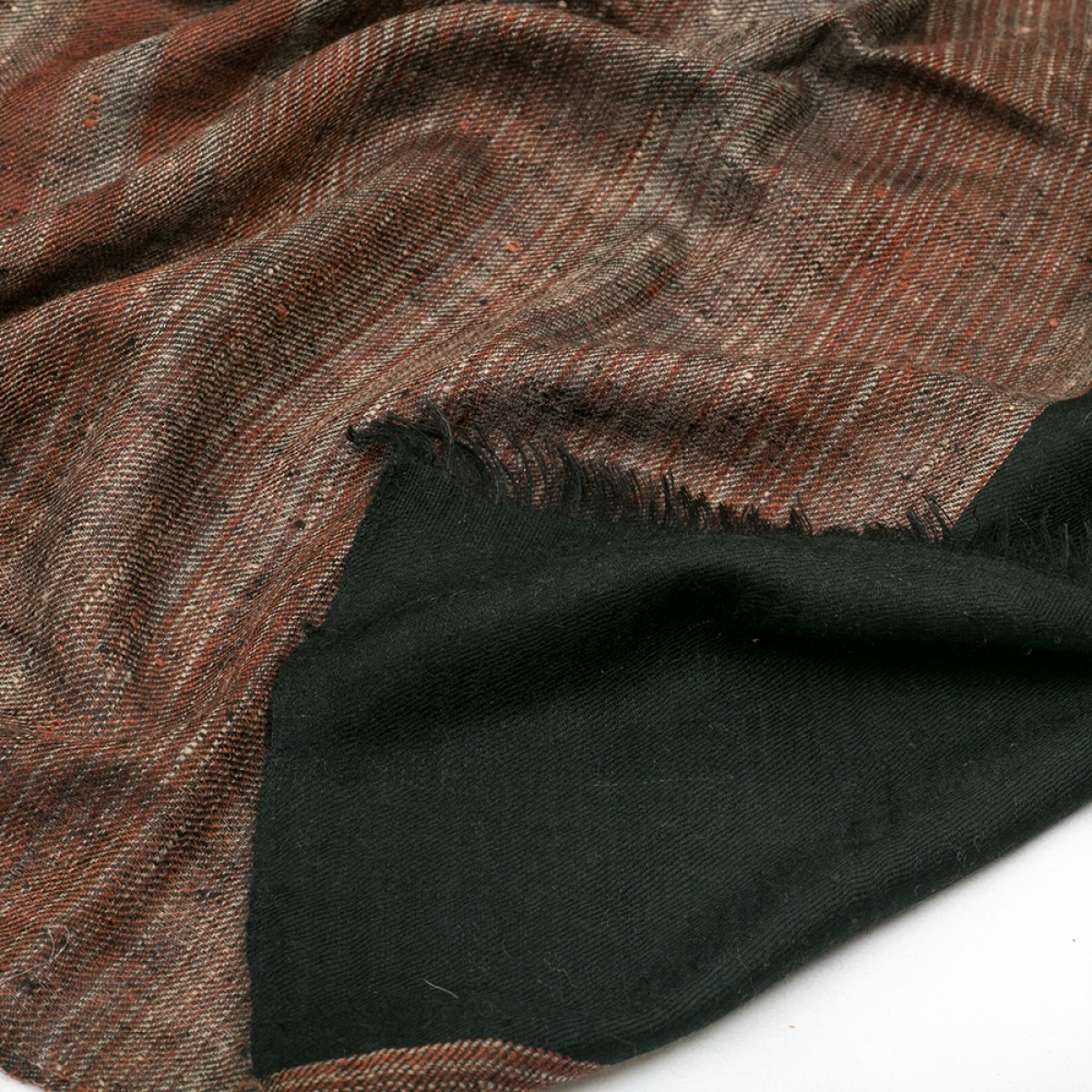 Ikat Cashmere Pashmina Stole - Brown & Black