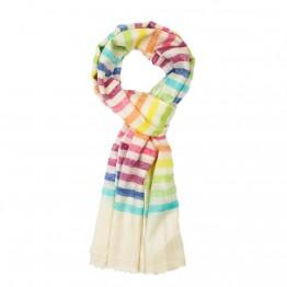 Pattern Cashmere Pashmina Scarf - Rainbow