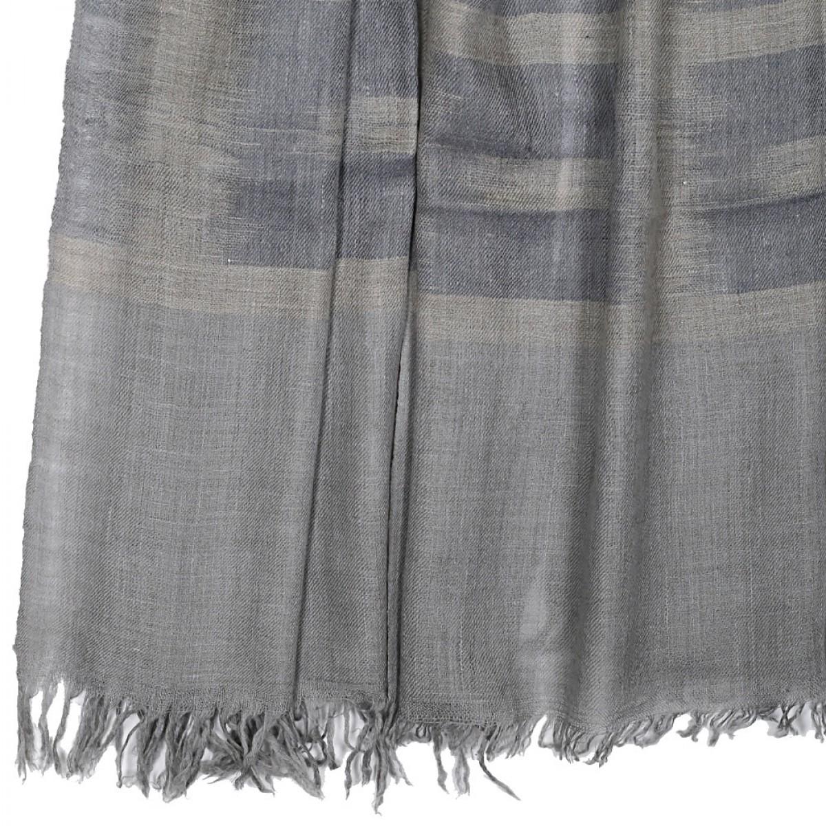 Ikat Pashmina Scarf - Light Grey