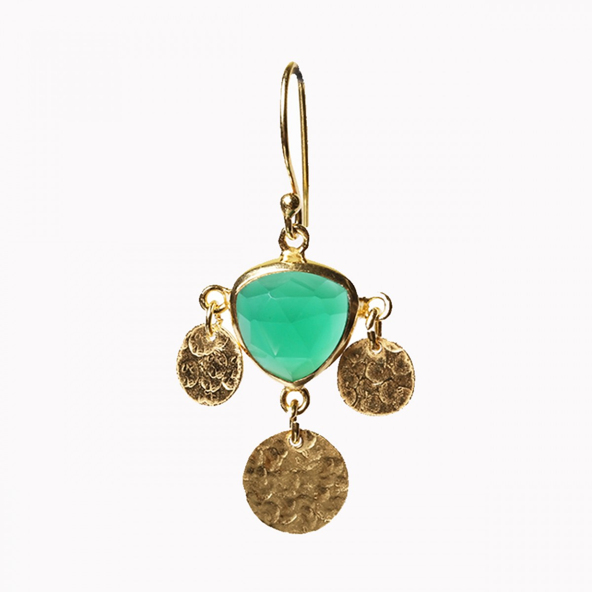 Gemstone Earrings - Green Onyx