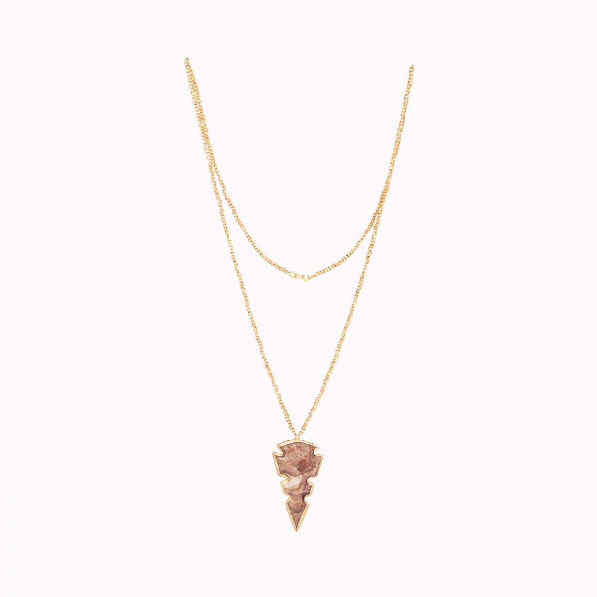 Mantra jasper pendant necklace