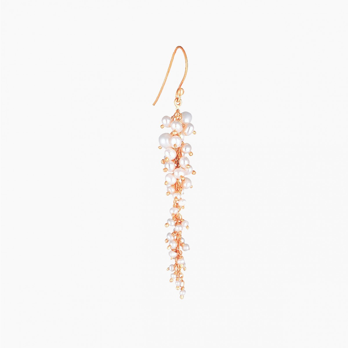 Pearl Chameli Chandelier Earrings