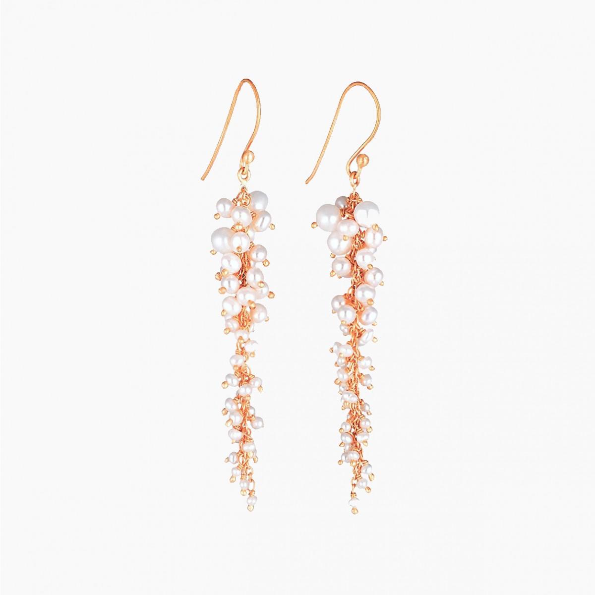 Chameli pearl chandelier earrings