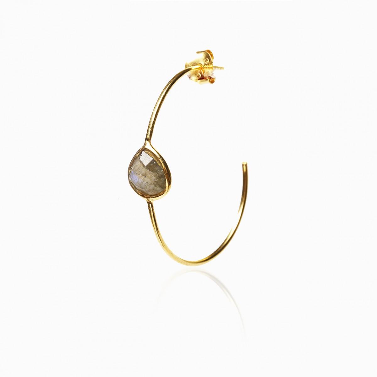 Labradorite semi-precious gemstone earrings